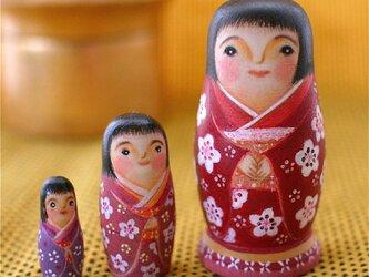 マトリョーシカ「梅子さん」の画像