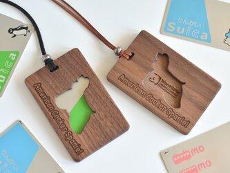 木製パスケース【アメリカンコッカー】American Cocker Spanielの画像