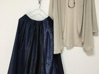 大島紬のスカート*紺の彩りの画像
