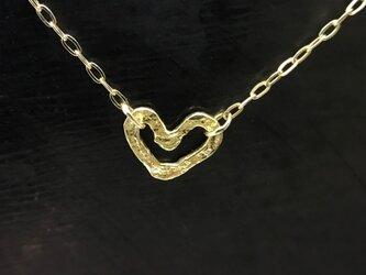 ◆K18◆ オープンハートのネックレスの画像