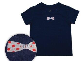 シュール!ボディーからオリジナル。お土産・プレゼントに。蝶ネクタイのプリント Tシャツ Tcollectorの画像
