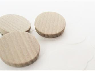 木製のシンプルブローチ flat series No.1 (br010)の画像