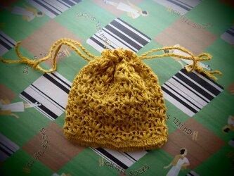小さなレース編み巾着の画像