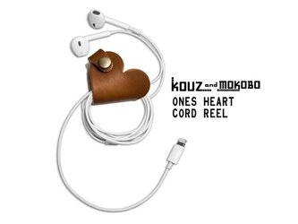 ▲ONES 甘いハートのチョコレート「ワンズハート コードリール」USBケーブルもOK(OHC-BB)の画像
