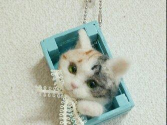 三毛猫オーナメントの画像