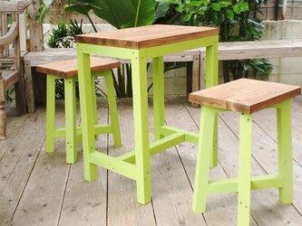◆◇テーブル&椅子2脚セット 色変更可能の画像