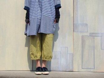 ベルギーリネンのもんぺ*からし色の画像
