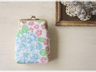 ■ヴィンテージ生地のがま口カードケース / 紫陽花■の画像