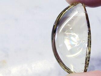 【0001】手擦り依田貴石×レインボー水晶moon  レモンクォーツの画像