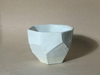 T039 白釉面取酒杯の画像