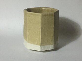 T042 黄釉八角湯呑の画像