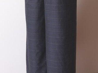 キュロットパンツ(紺と黒のチェック)の画像