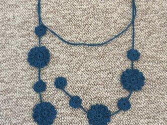 ラリエット 大花 ブルーの画像