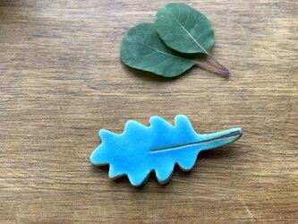 葉っぱの箸置き:ターコイズブルーの画像