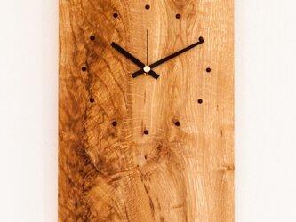 壁掛け時計 ナラ四角の画像