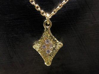 ◆K18◆ ダイヤのかたちのネックレスの画像