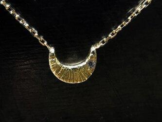 ◆K18◆ 三日月のネックレスの画像