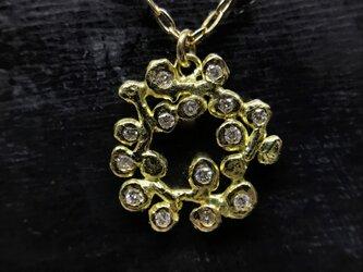 ◆K18◆ フラワーリースのようなネックレスの画像