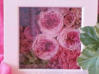 フレームフラワー☆お花のデコフレームの画像
