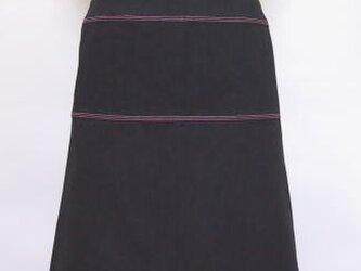 ステッチ入りデニムスカート(黒)の画像