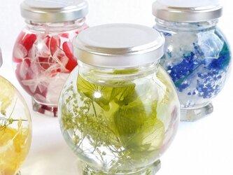 【ハーバーリウム】ガラスの中のflower~(丸面)ナチュラル*の画像