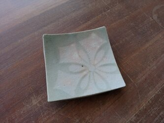 四方皿(小) 雪紋-1の画像
