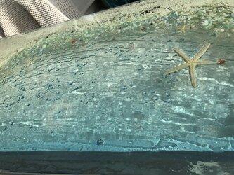 ガラスセンターテーブル ホワイトビーチ 珊瑚の海の画像