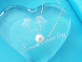 ひと粒 アコヤ貝本真珠 シルバーペンダントの画像