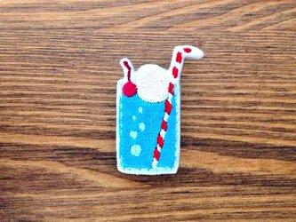 刺繍ブローチ 「ブルーハワイフロート」の画像