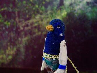 羊毛フェルト  青い鳥の王子様の画像