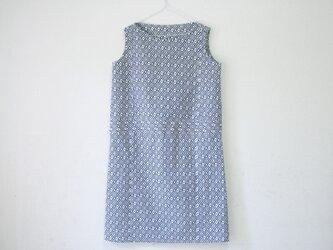 Mさま専用 綿 変り菱 ノースリーブワンピース の画像