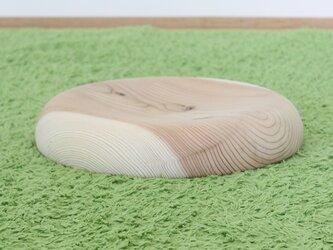 岐阜県産の杉から作ったスツール用のお洒落な丸い座面*無塗装*の画像