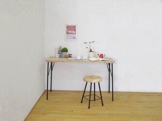 *ナチュラル*天然杉の古材とアイアン(鉄)脚で作ったカフェ風カウンターテーブル・作業台の画像