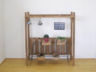 *ハンガーラック*可愛く便利な木製パーゴラ【藤棚】の画像