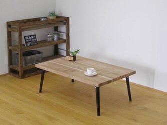 杉の足場板から作ったインドア・アウトドアどちらもOKのカッコいいローテーブルの画像