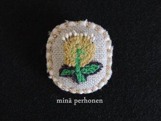 ミナペルホネンシリーズ ~ 楕円ブローチ ~の画像