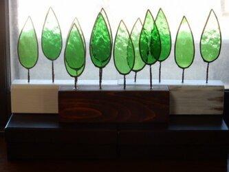 ステンドグラスの森 ステイン仕上げ の画像