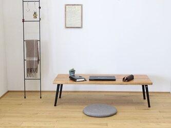 天然杉の古材と折れ脚(細)で作ったカフェ風カウンターローテーブル・座卓【メープル】の画像