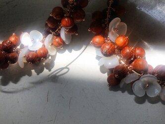 14kgf/flower_wood*earringの画像