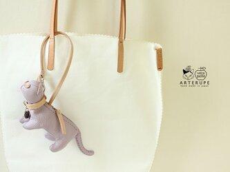 チプリア 猫のキーポーチ Gattina Baffi(ガッティーナバッフィ)イタリア製シュリンクレザー使用の画像