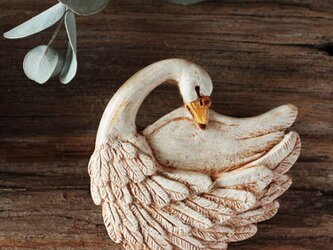 -koku- 白鳥のブローチの画像