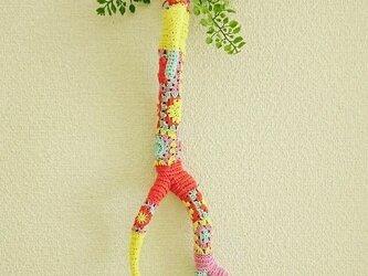 かぎ編みの鹿のツノのオブジェ〈カラフルモチーフ〉の画像