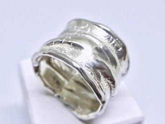 皮革のようなリング ◆SILVER◆の画像