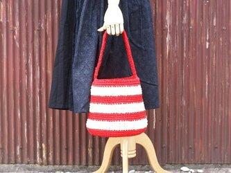 裂き編みバッグ(ワンハンドル、バケツ型)の画像