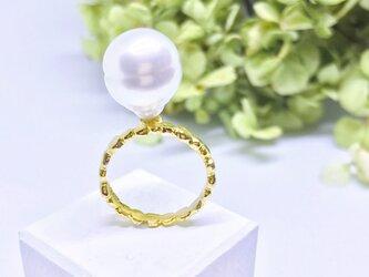 ◆K18◆ 大粒パールのリングの画像
