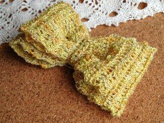 2重リボン~黄色&ゴールドラメの画像