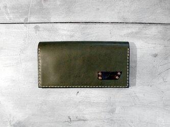 プルアップオイルレザーの長財布の画像