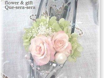 49ce3c8093216 NO119 アーティフィシャルフラワー ギフト ハイヒールアレンジ(ピンク) ガラスの靴 結婚祝い 受付 誕生日 送料無料