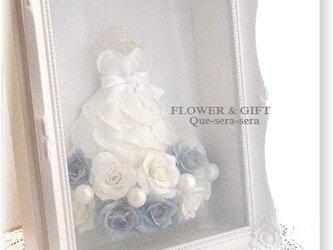 d60a1f2c2bbb4 NO78 アーティフィシャルフラワー ギフト ミニドレス ウェディングドレス(ブルー) 結婚祝い 受付 誕生日 送料無料