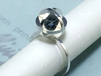 3pieces Puzzle Sphere Ring silver950 size 10の画像
